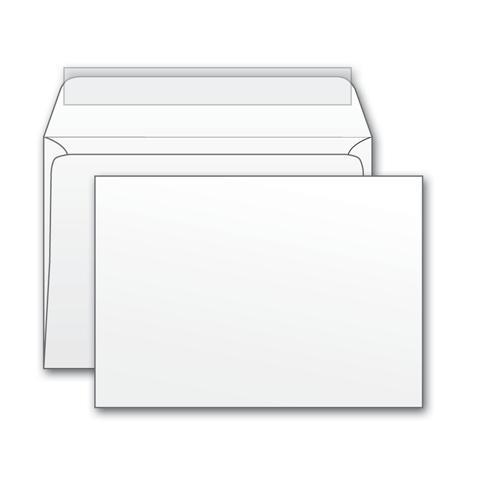 Конверты почтовые бумажные белые