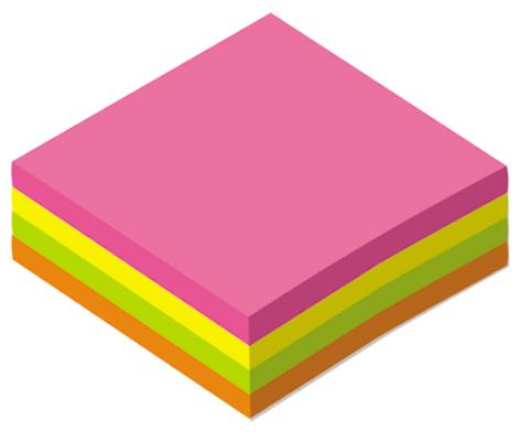 Блоки для записей самоклеющиеся