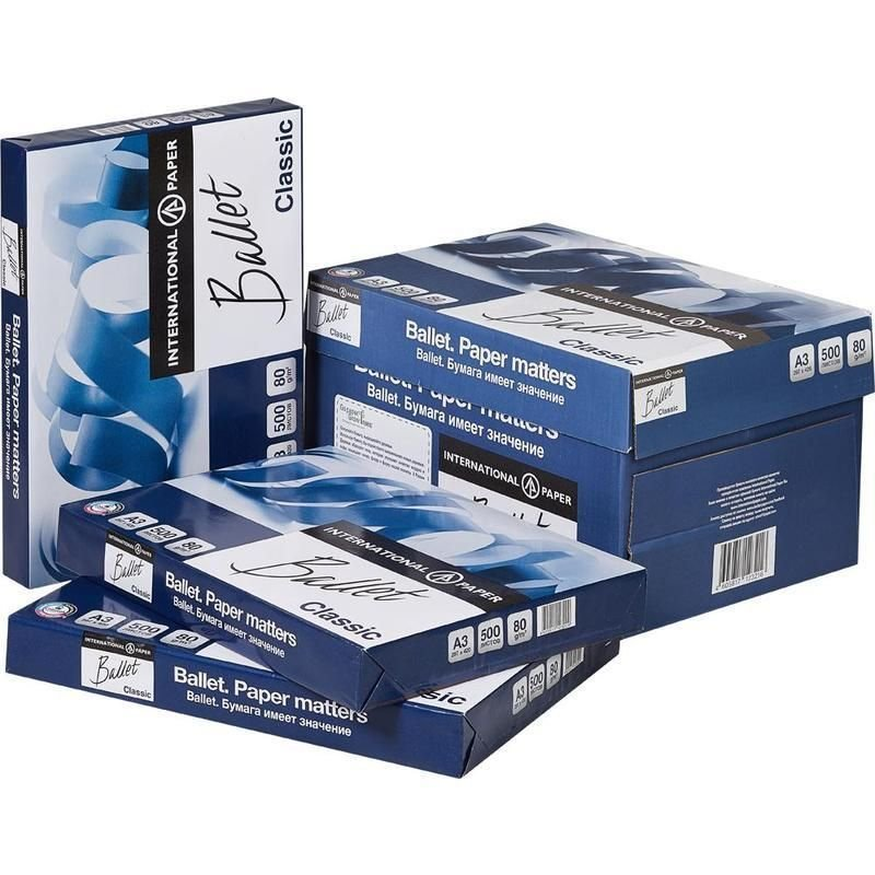 Бумага Ballet Classic А3 80г/м2 153% ISO 500л