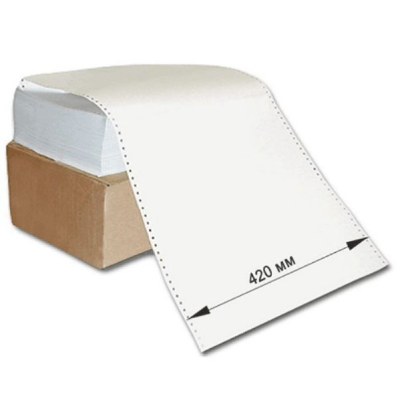 Бумага с неотр перфорацией 420х305мм шаг 12 1600л/уп
