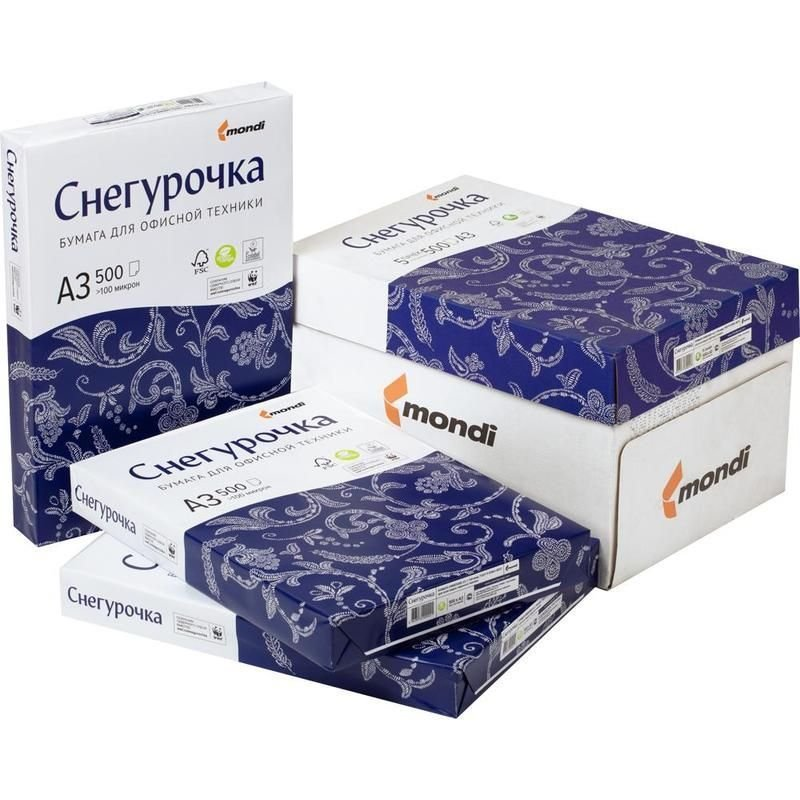 Бумага Снегурочка А3 80г/м2 146% ISO 500л