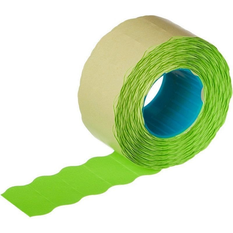 Этикет-лента 22x12мм волна зеленая