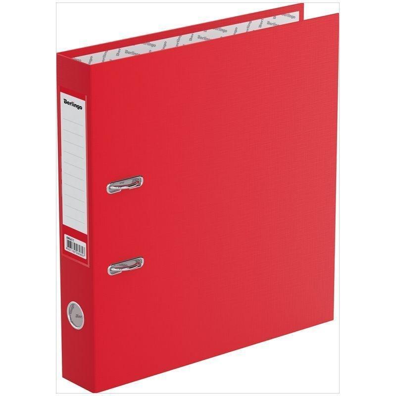 Папка-регистратор 50мм Berlingo Standard бумвинил карман красная