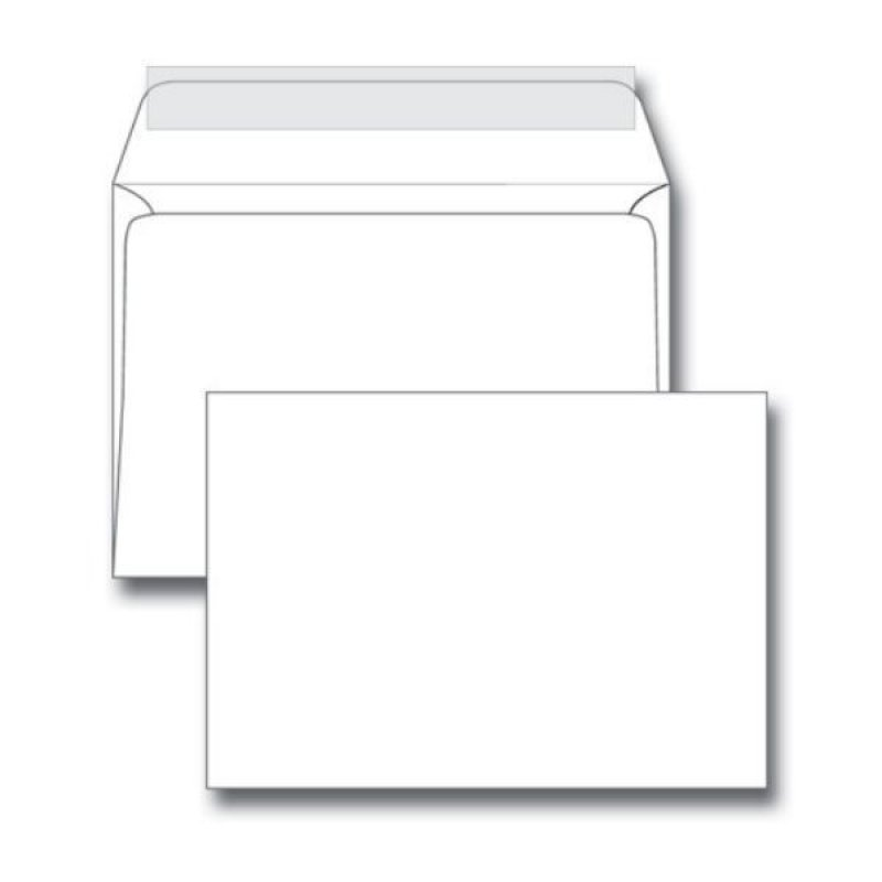 Конверт С5 (162х229мм) белый с отрывной полосой