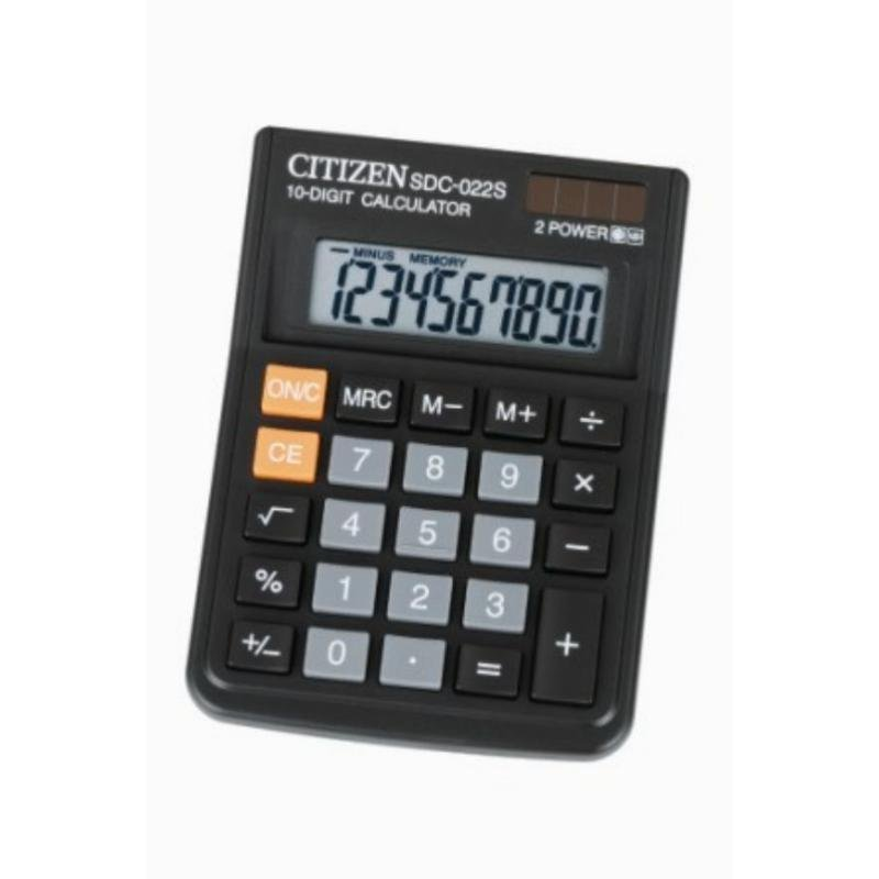Калькулятор Citizen SDC-022S 120х87мм 10 разр