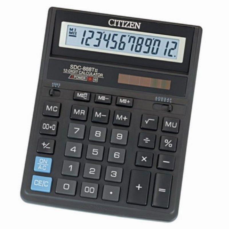 Калькулятор Citizen SDC-888 TII 205х159мм 12 разр