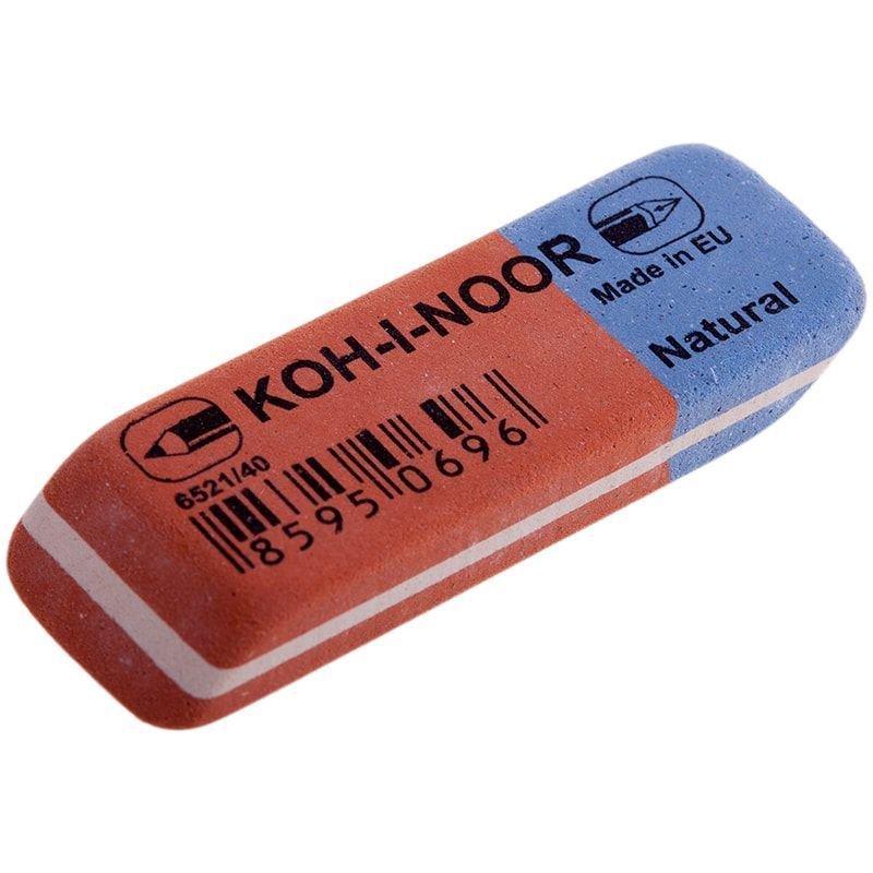 Ластик Koh-i-Noor Blue Star 6521/40 57х19х8мм натуральный каучук прямоугольный красно-синий
