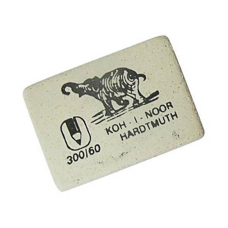 Ластик Koh-i-Noor Elephant 300/60 30х20х8мм прямоугольный натуральный каучук белый