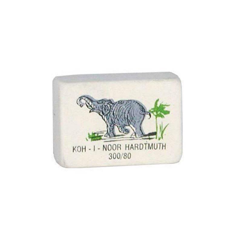 Ластик Koh-i-Noor Elephant 300/80 26х18х8мм прямоугольный натуральный каучук белый