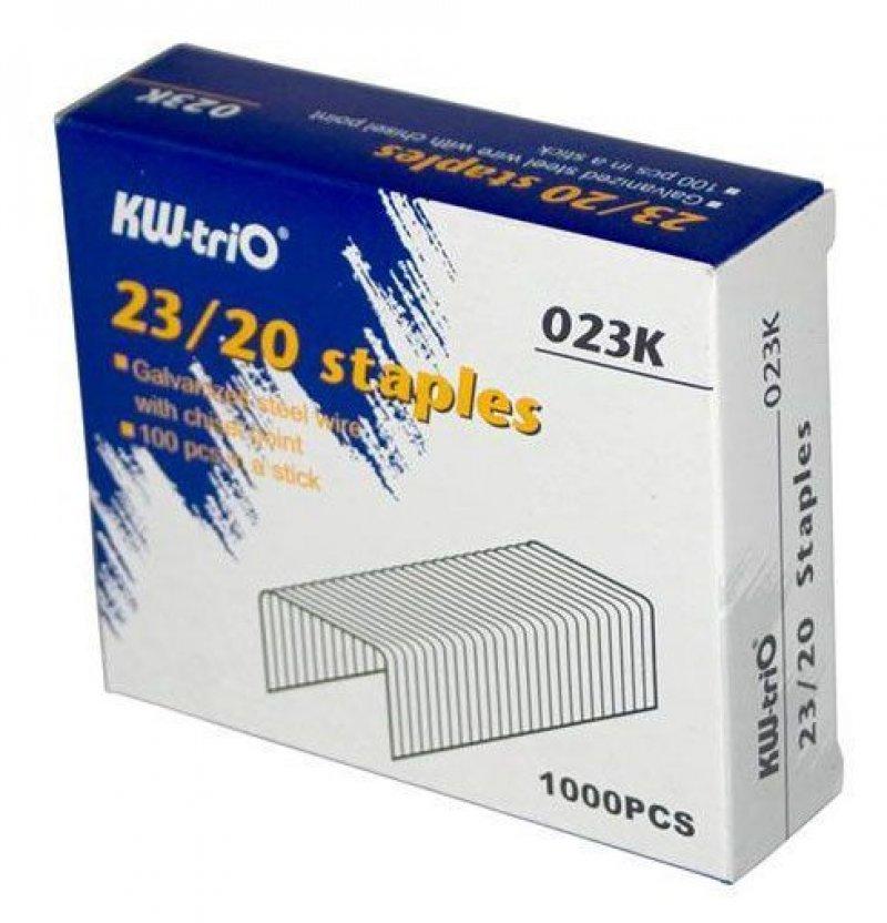 Скобы для степлера №23/20 KW-trio 1000шт/уп оцинкованные до 160 листов