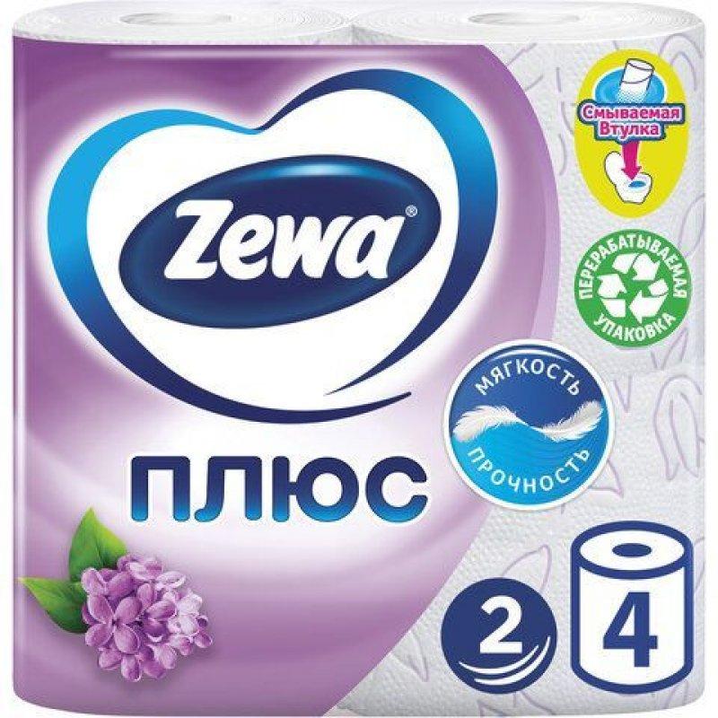 Бумага туалетная Zewa Plus 2-сл 4 шт/уп аромат ассорти