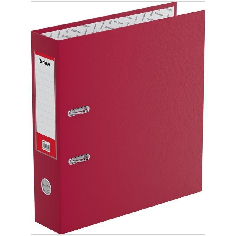 Папка-регистратор 70мм Berlingo Standard бумвинил карман бордовая