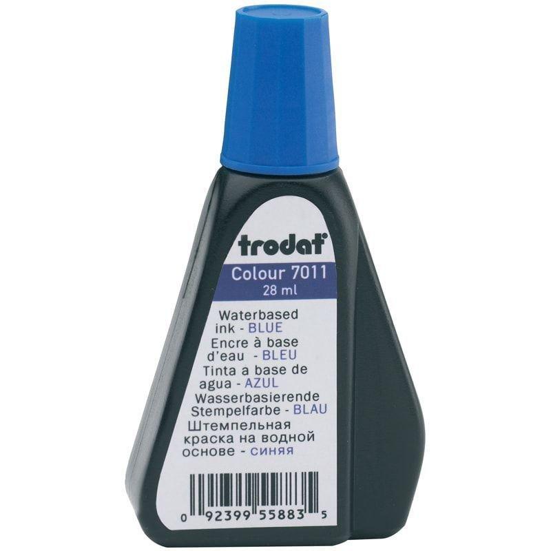 Штемпельная краска Trodat 28мл синяя на водной основе