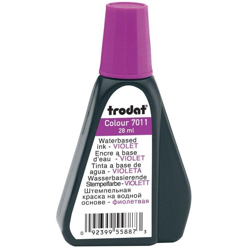 Штемпельная краска Trodat 28мл фиолетовая на водной основе
