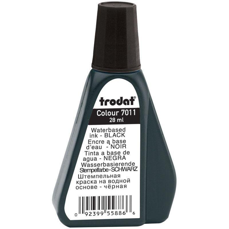 Штемпельная краска Trodat 28мл черная на водной основе