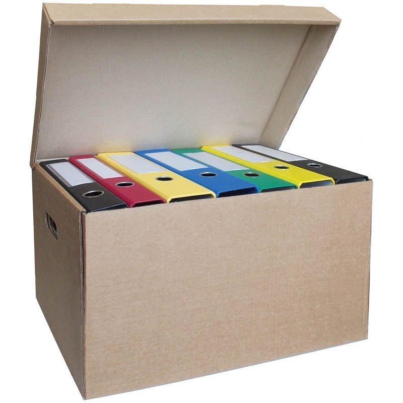 Короб архивный с крышкой 480х325х295мм гофрокартон бурый OfficeSpace Делопроизводство