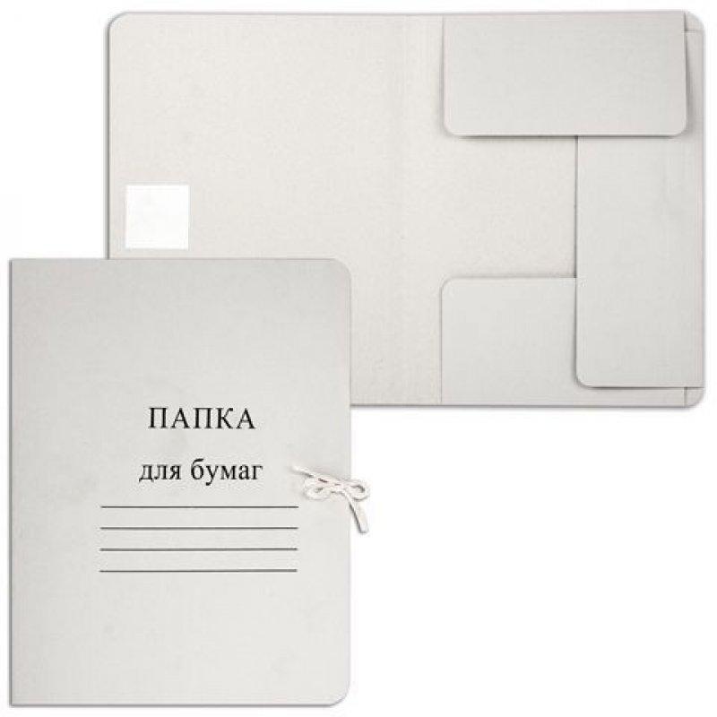 Папка картонная с завязками 260г/м2 немелованный картон