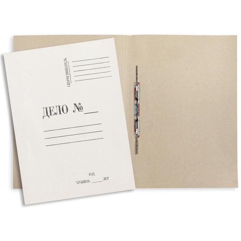 Папка картонная скоросшиватель Дело 290г/м2 белая немелованный картон