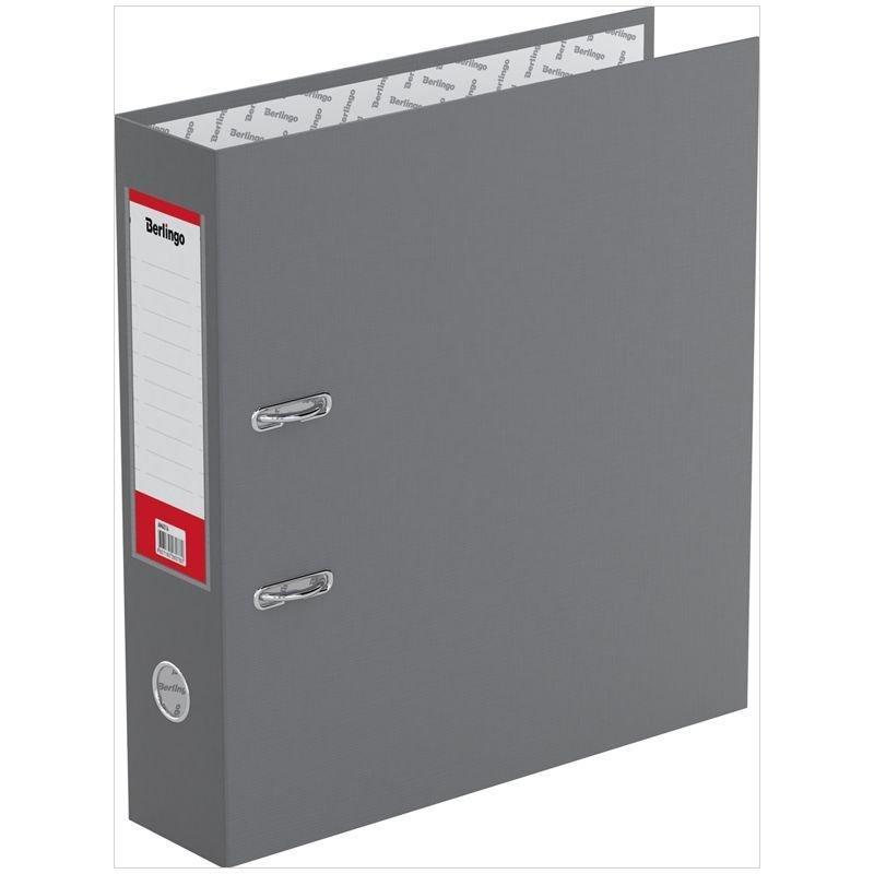 Папка-регистратор 70мм Berlingo Standard бумвинил карман серая