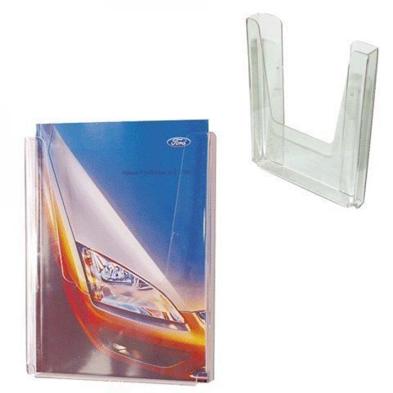 Подставка для рекламных материалов вертикальная настенная А4 290х215х32мм 1 отделение