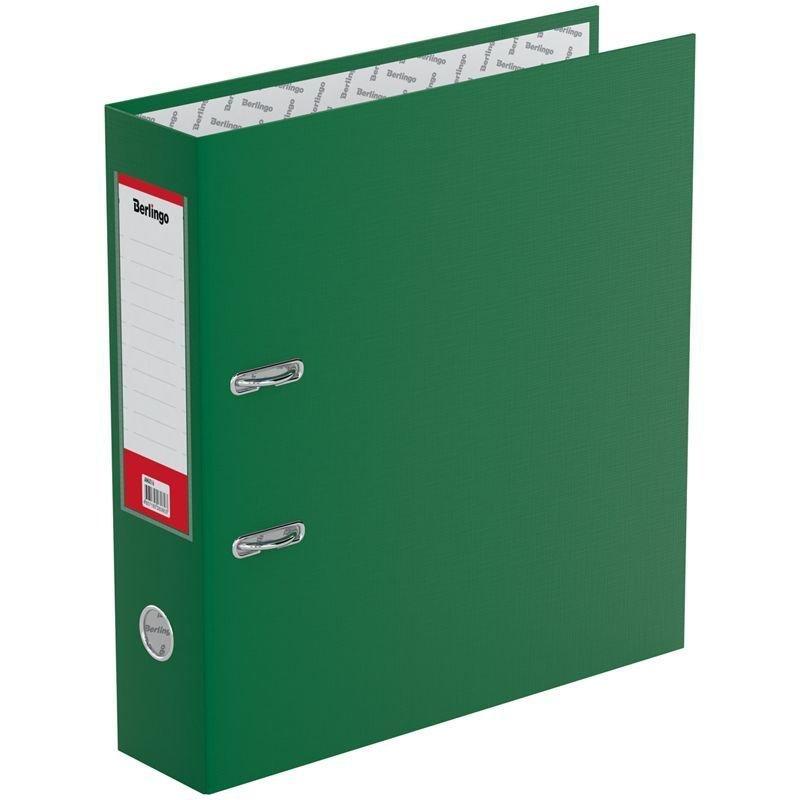 Папка-регистратор 70мм Berlingo Standard бумвинил карман зеленая