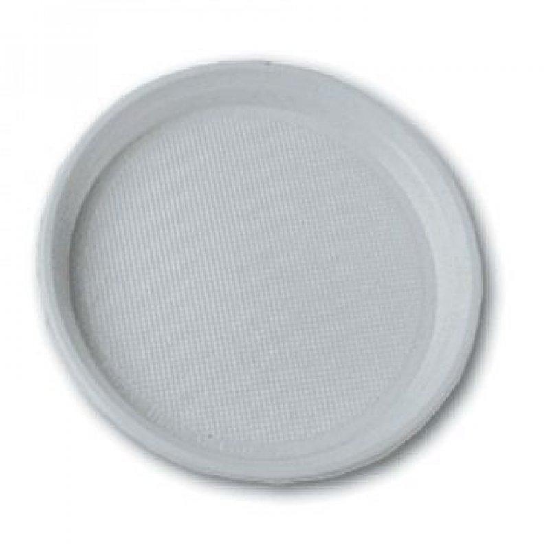 Тарелка одноразовая плоская 205мм белая розница