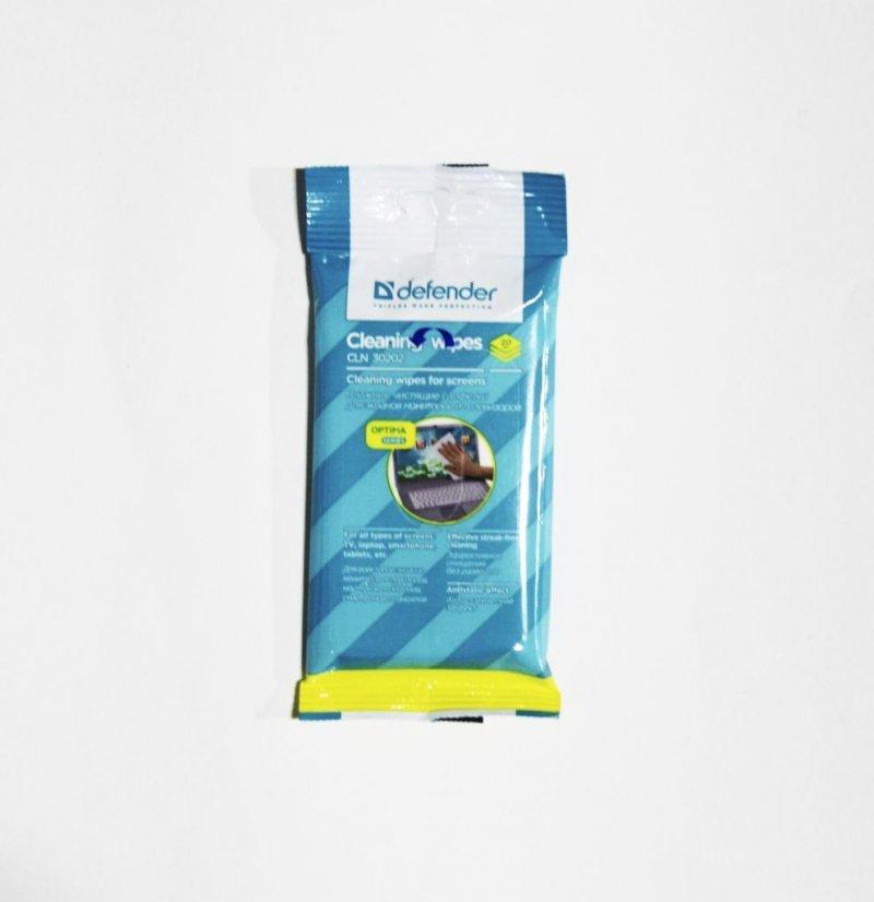 Чистящие салфетки для поверзностей  Defender мягкая упаковка блок 20шт