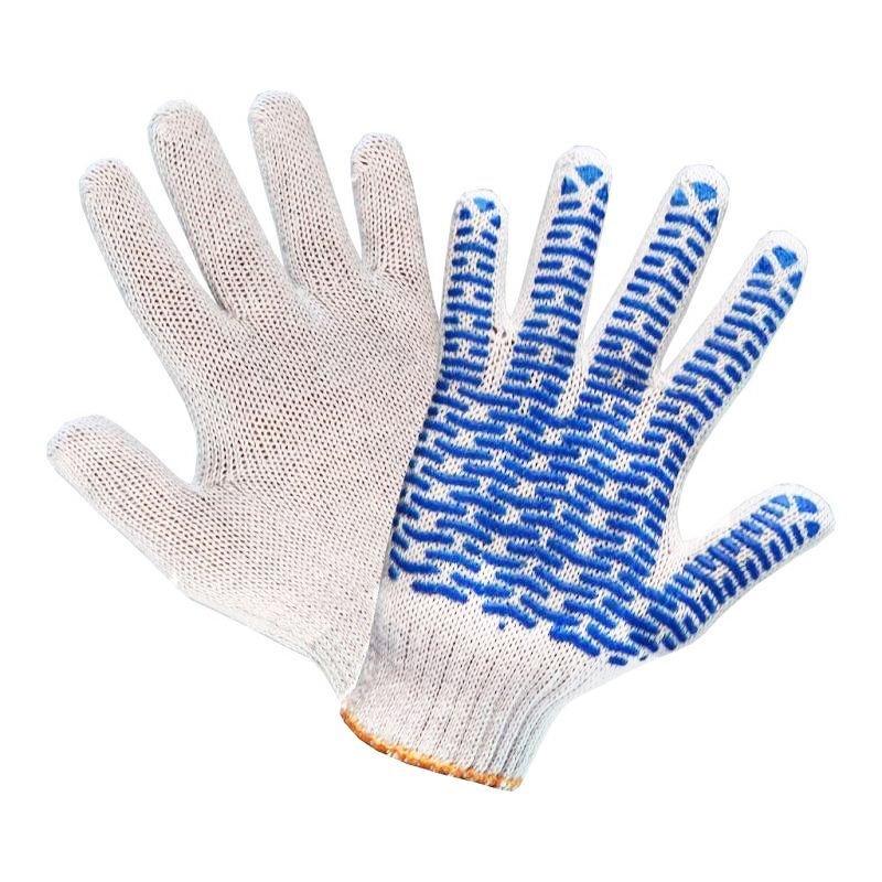 Перчатки х/б с ПВХ 4 нитки манжета волна