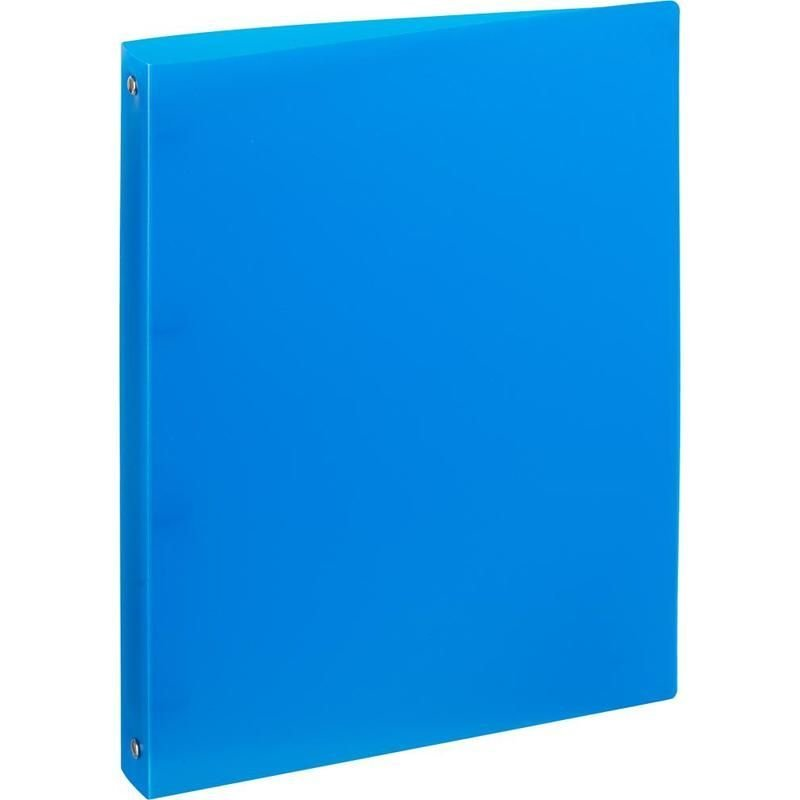 Папка на 4-х кольцах 32мм Attache синяя 0,45мм