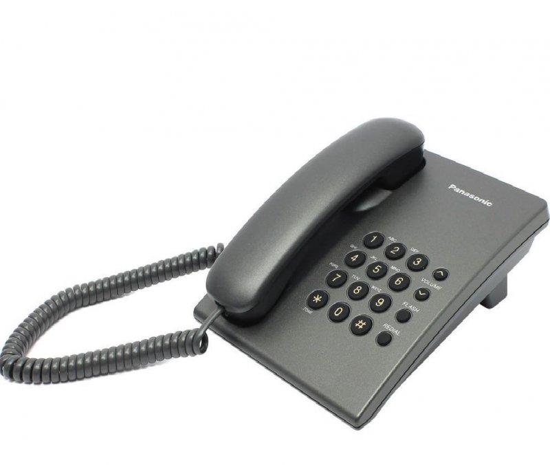 Телефон Panasonic KX-TS2350RUB черный регулировка громкости тон/имп режимы