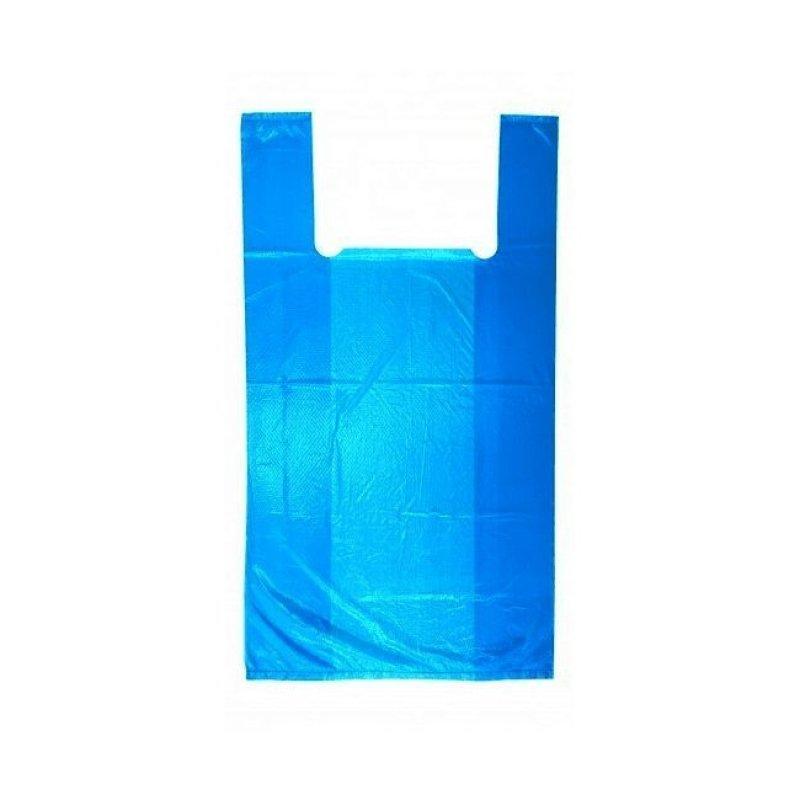 Пакет Майка 24+12х43см 10мкм синий 100шт/уп