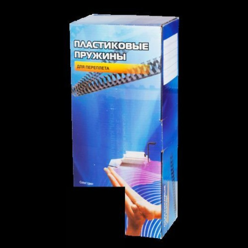 Пружины для переплета пластик  8мм черные 100шт/уп