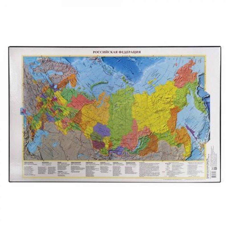 Коврик на стол 38х59см Карта России