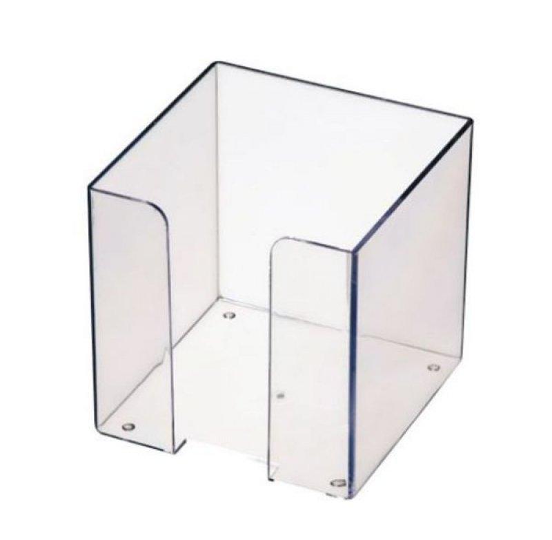 Бокс для бумаги 90х90х90мм Стамм прозрачный