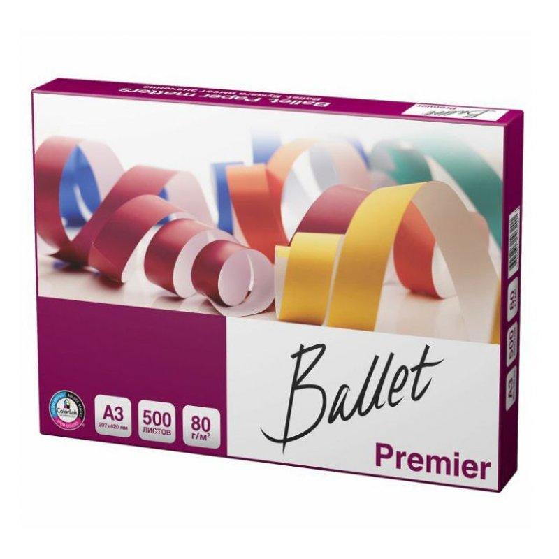 Бумага Ballet Premier А3 80г/м2 99% ISO 500л
