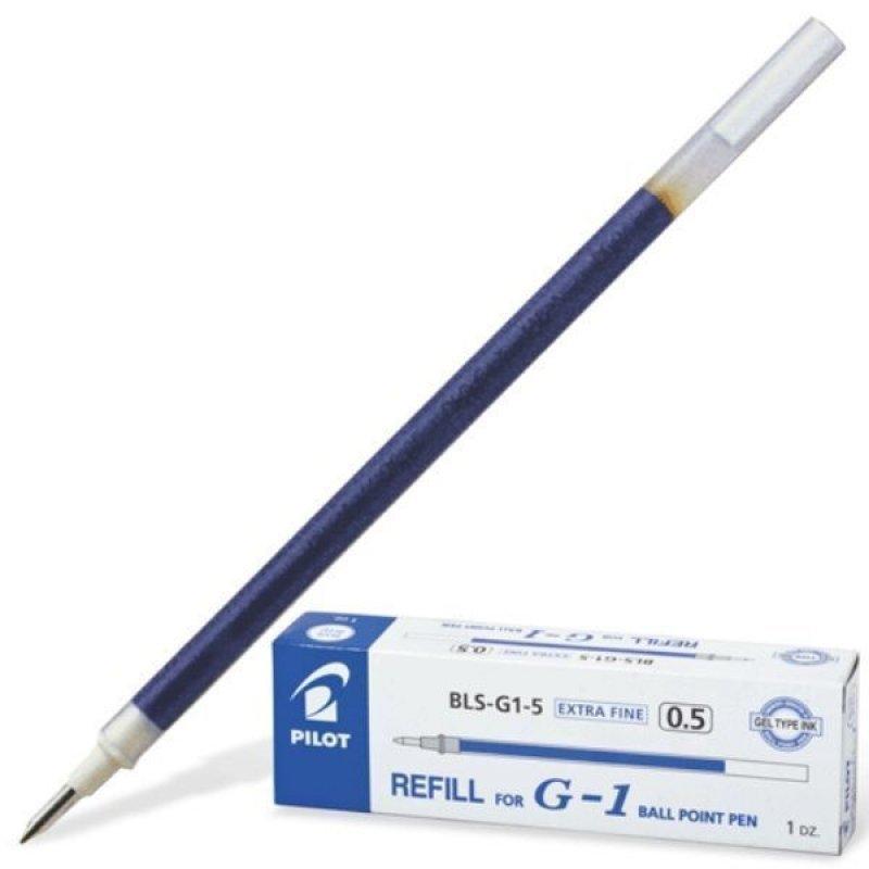 Стержень гелевый 128мм Pilot G-01 0,5мм синий