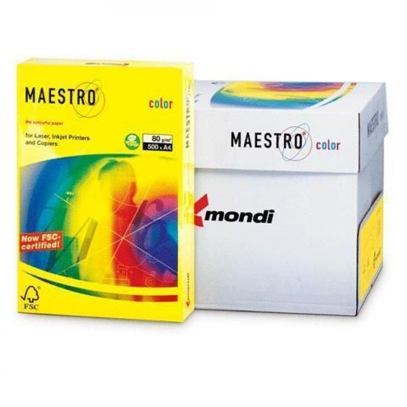 Бумага IQ/Maestro Color А4 80г/м2 500л солнечно-желтая