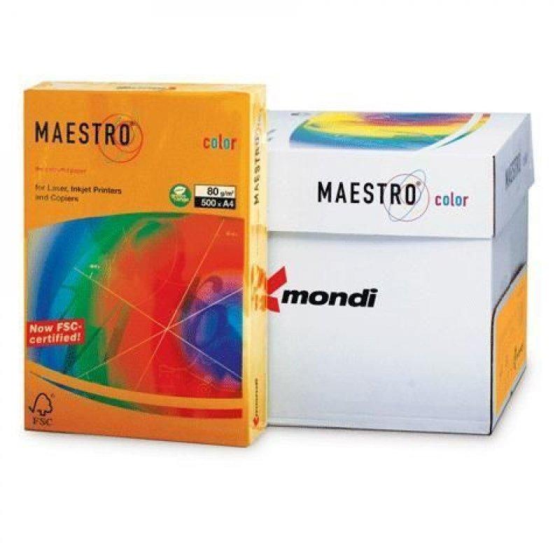 Бумага IQ/Maestro Color А4 80г/м2 500л оранжевая