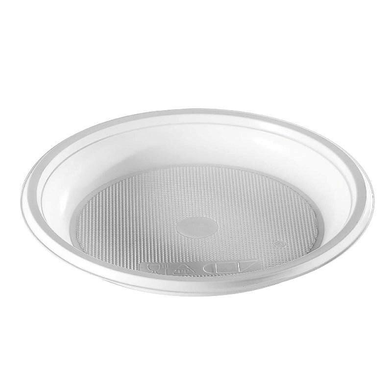 Тарелка одноразовая десертная 165мм белая розница
