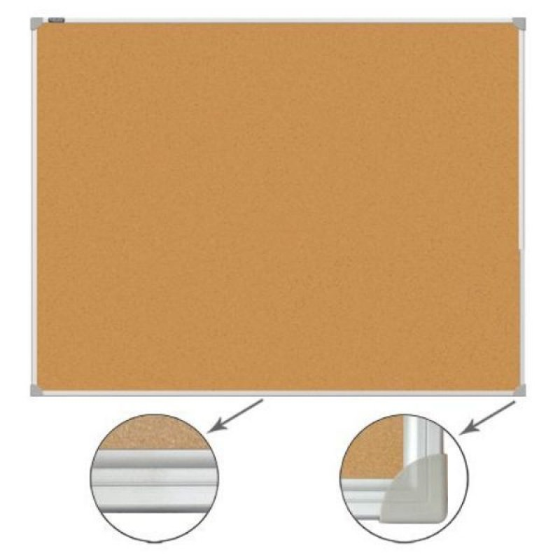 Доска пробковая 60х90см алюминиевая рамка
