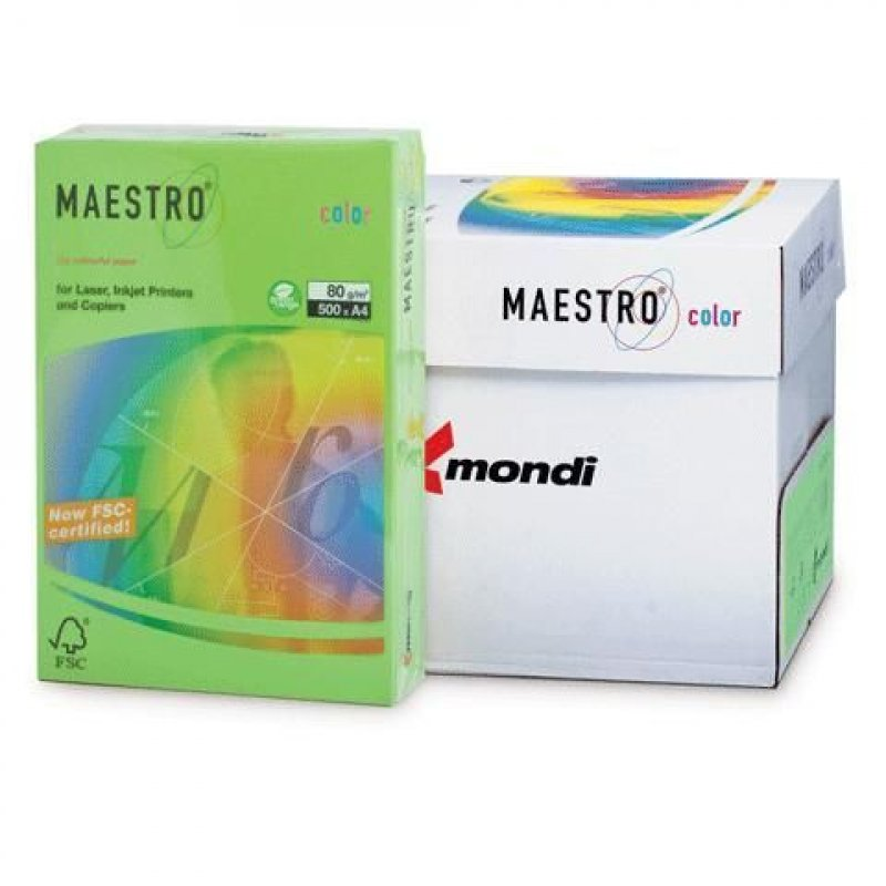 Бумага IQ/Maestro Color А4 80г/м2 500л зеленая