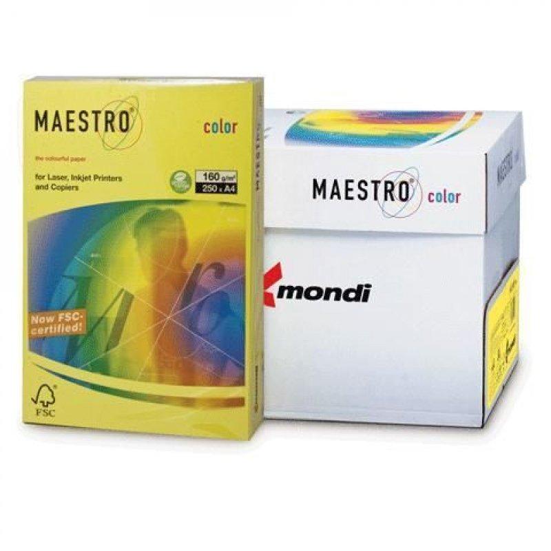 Бумага IQ/Maestro Color А4 160г/м2 250л канареечно-желтая