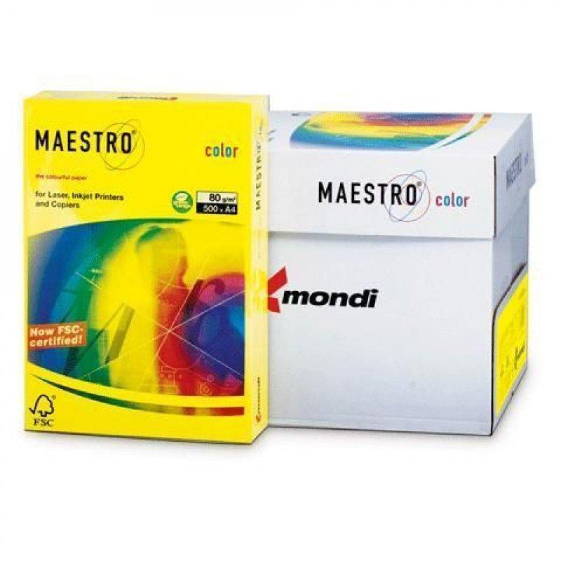 Бумага IQ/Maestro Color А4 80г/м2 500л канареечно-желтая