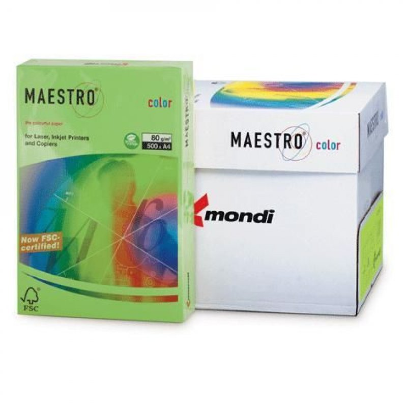 Бумага IQ/Maestro Color А4 80г/м2 500л ярко-зеленая