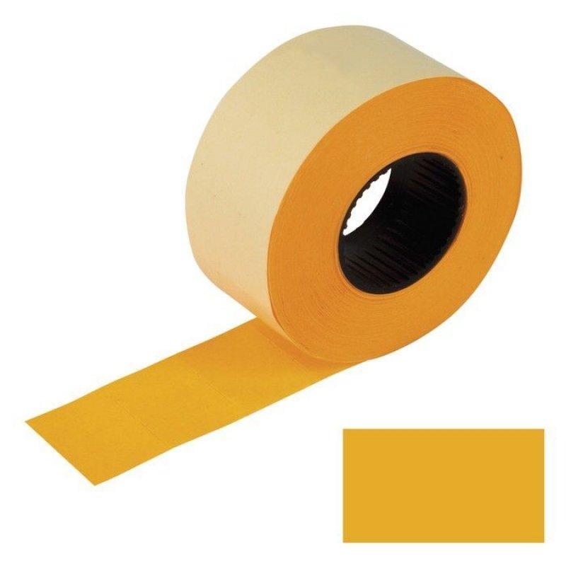 Этикет-лента 26х16мм прямоугольная оранжевая