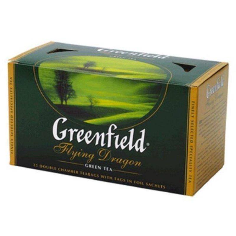 Чай Greenfield Flying Dragon 25шт в пакетиках зеленый