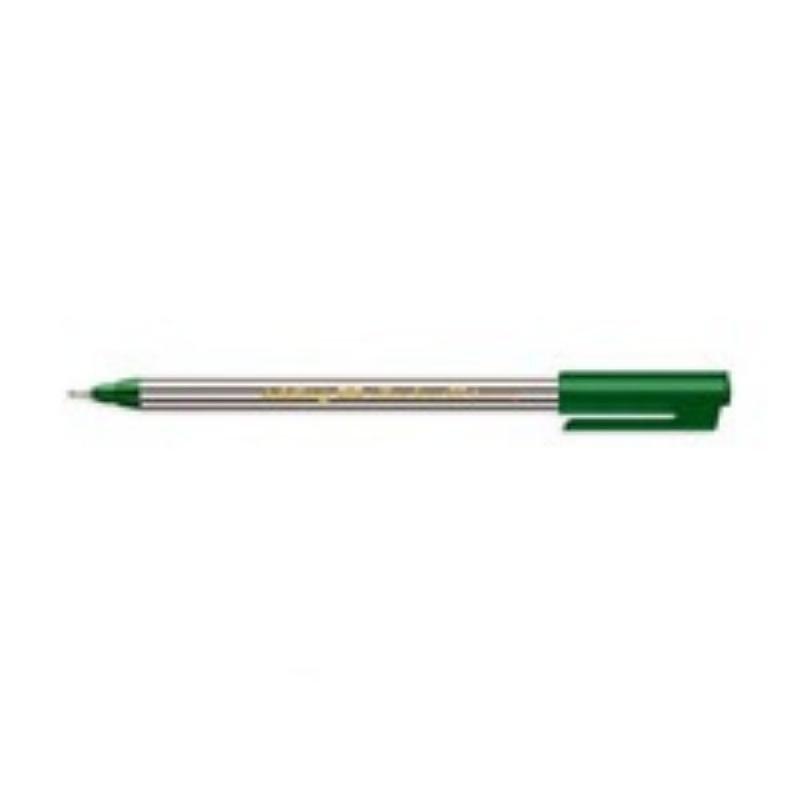 Ручка капиллярная Attache 0,3мм зеленая