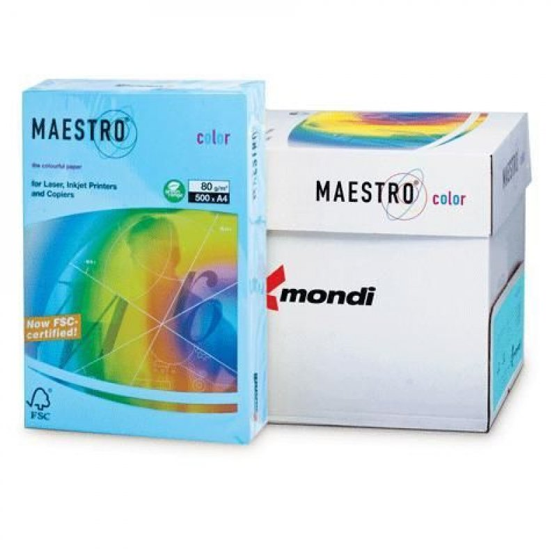 Бумага IQ/Maestro Color А4 80г/м2 500л светло-голубая