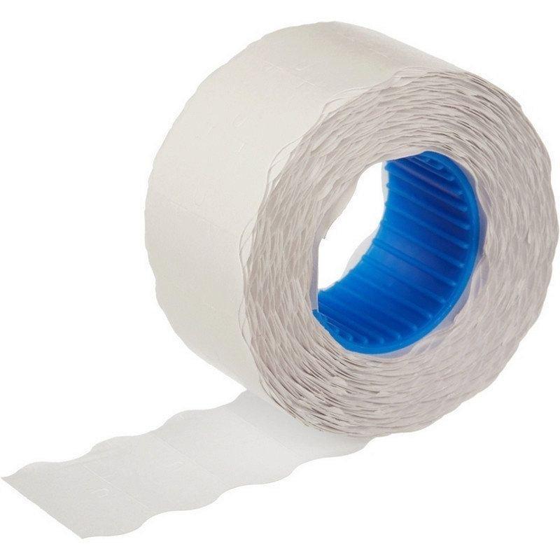 Этикет-лента 22x12мм волна белая