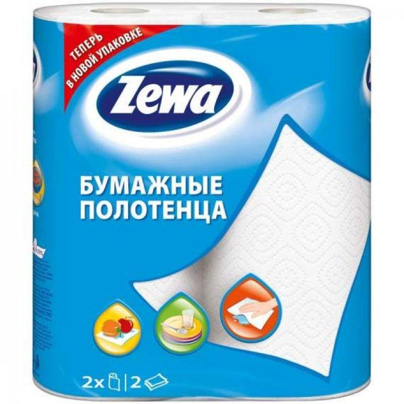 Полотенце бумажное Zewa 2-сл 2шт/уп с белым тиснением